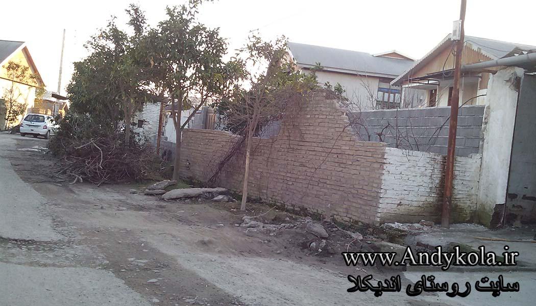 وضعیت چاله چوله های جاده اندیکلا در بهمن ماه 94